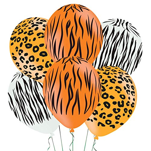 6 Piece Animal Print Balloons Set. For the wild 80s party animal!