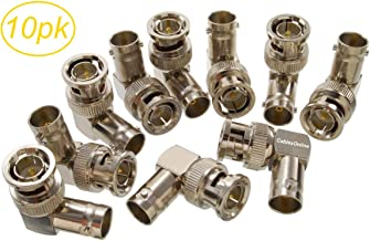 CablesOnline 10-Pack 90-Degree BNC Right-Angle Male to BNC Female Video Adapter (AV-A55-10)