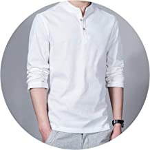 2018 Fashion Long Sleeve Men's Shirts Casual Linen Shirt Asian Size Camisas DX366