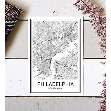 City Maps, City Map Poster, Philadelphia Map Print, Philadelphia Poster, US city Map, Map Print, Map Art Print, Black and White, Map Wall Art, Map Art, Modern City Art, Scandinavian Poster, 8x10