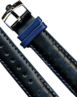 4 Colors 20mm Genuine Perforated Leather Rally Racing Strap & Omega Buckle