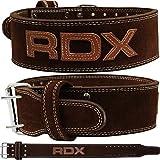 RDX 10mm Powerlifting Nubukleder Gewichthebergürtel Gürtel, braun, S