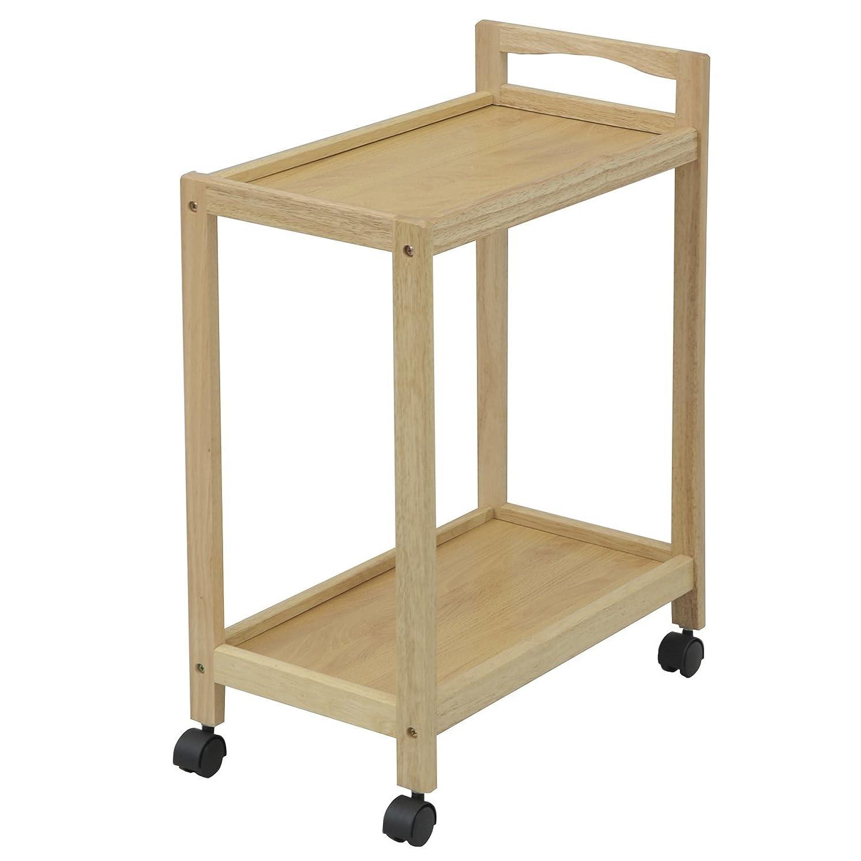 絵カロリー絡まる山善(YAMAZEN) 木製2段ワゴン キッチンワゴン ナチュラル BNN-2M(NA)