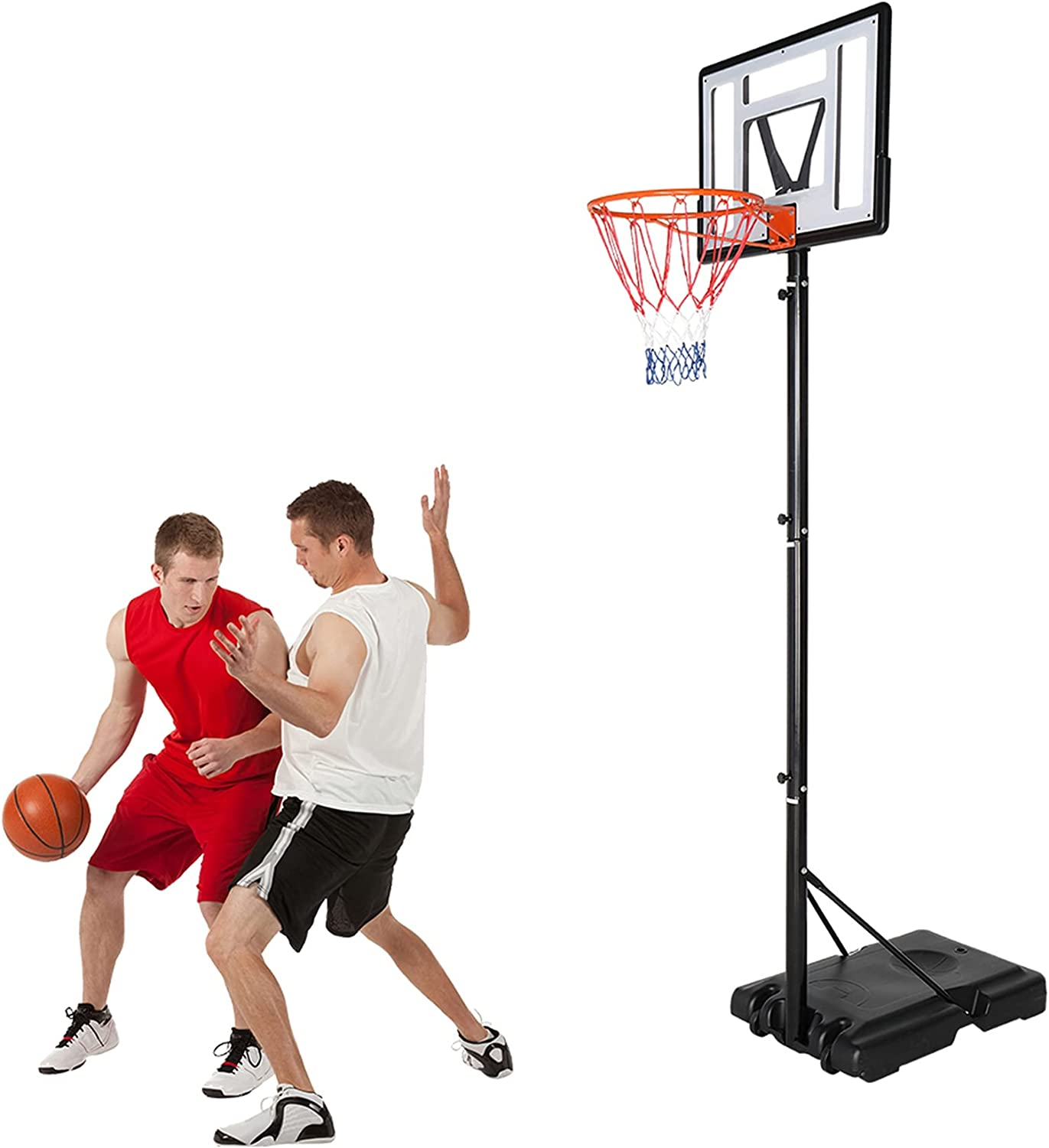 Xcasso Basketball 100% quality warranty! excellence Hoop Outdoor Adjust Portable Goals