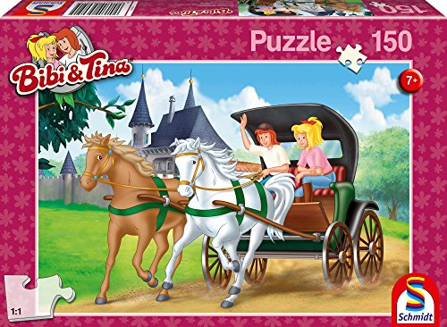 Schmidt Spiele- Puzzle Bibi et Tina-en Calèche 150 Pièces, 56051