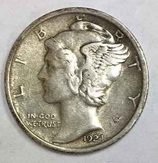 1924 P Mercury Dime 90% Silver 10c VF