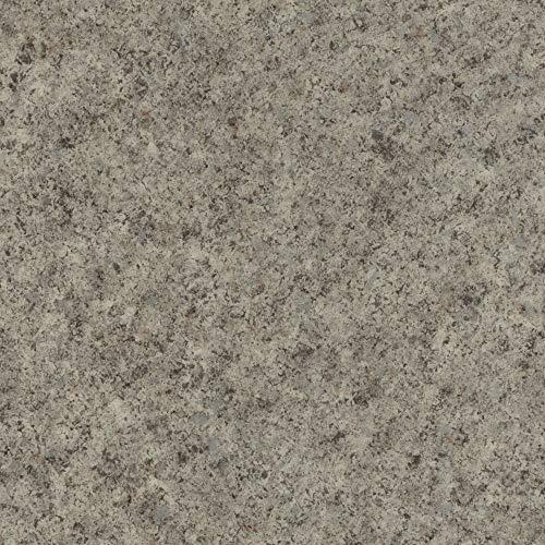 BODENMEISTER BM70564 Vinylboden PVC Bodenbelag Meterware 200, 300, 400 cm breit, Steinoptik Chip grau