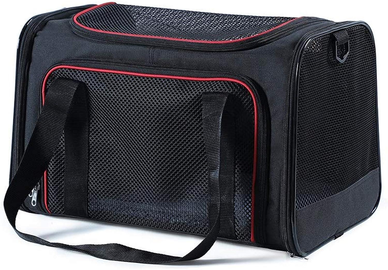 FJH Cat Bag Large Cat Back Packaging Cat Cage Portable Pet Out Bag Dog Cat Pet Backpack Car Can Be Pet Bag (color   Black, Size   S)