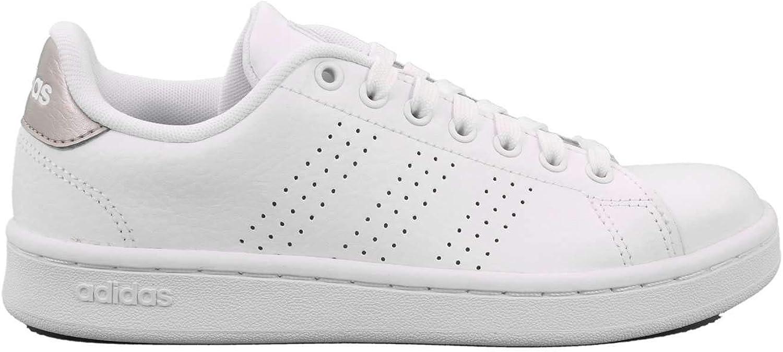 Adidas White Sneaker and Silver Advantage