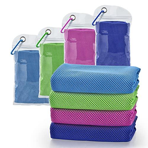 Toalla de refrigeración, toalla de microfibra fresca para yoga, golf, deportes, correr, gimnasio, entrenamiento, camping, fitness, actividades al aire libre y más actividades