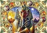 ChuYuszb Puzzle Rompecabezas para Adultos 1000 Piezas niños de 8 años de Edad Juguete para Hombres Mujeres niños niño niña Arte decoración Paisaje Cartel Tutankamón