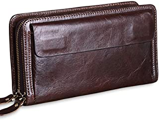 Wristlet Wallet Leather/Leather Wristlet Wallet Clutch/Wallets for Men with Zipper Compartment/Money Clip Wallets for Men/...