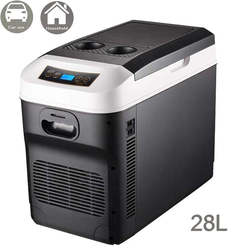 HELLOCOOL Elektrische Kühlbox- Auto Kühlschrank, 2 in 1 Kühler und Erwrmer Minikühlschrank, 12V 24 V (28L) Elektrisch Mini-Kühlschrank Tragbares thermoelektrisches System Kühler und wrmer