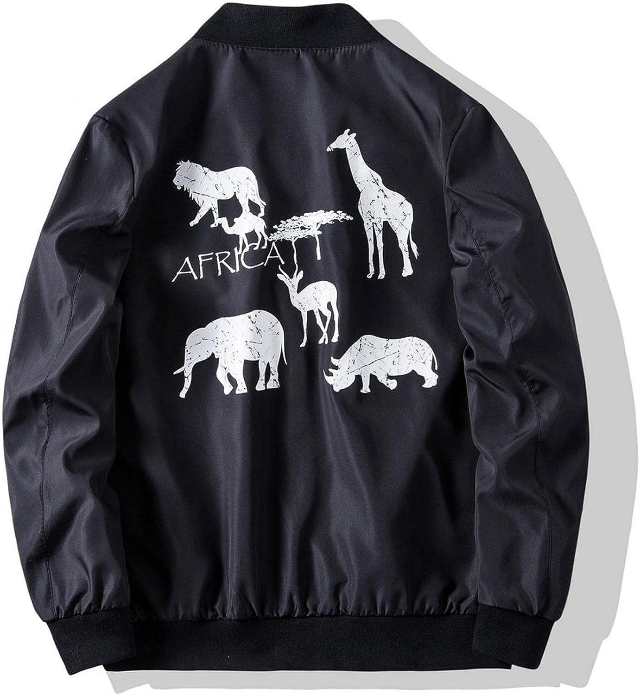 FUNEY Men's Casual Slim Fit Thin Lightweight Fall Winter Jackets Outwear Zipper Up Stand Collar Cardigan Bomber Jacket Coat