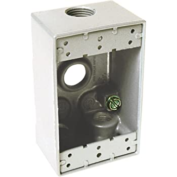 Sigma Electric 14011 1//2-Inch Weatherproof Box Holder Gray
