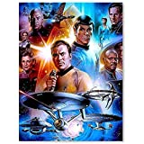 Canvas Pictures for Living Room Wall Mural Spock Captain Kirk Star Wars Star Trek Voyager Posters Wall Custom 24x36inch