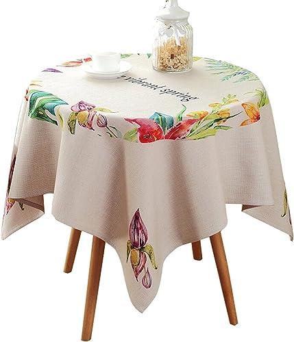 Tablecloth Pastoralen Platz Stoff Tischdecke Mode einfach waschbar Baumwolle Mischung Staubschutz Tuch (Farbe   B, Größe   110  110cm)