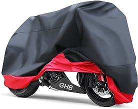 Telo per Moto Impermeabile XXL Coprimoto Copri Scooter Moto con Rivestimento in PU Cinturini Elastici e Cintura Antivento