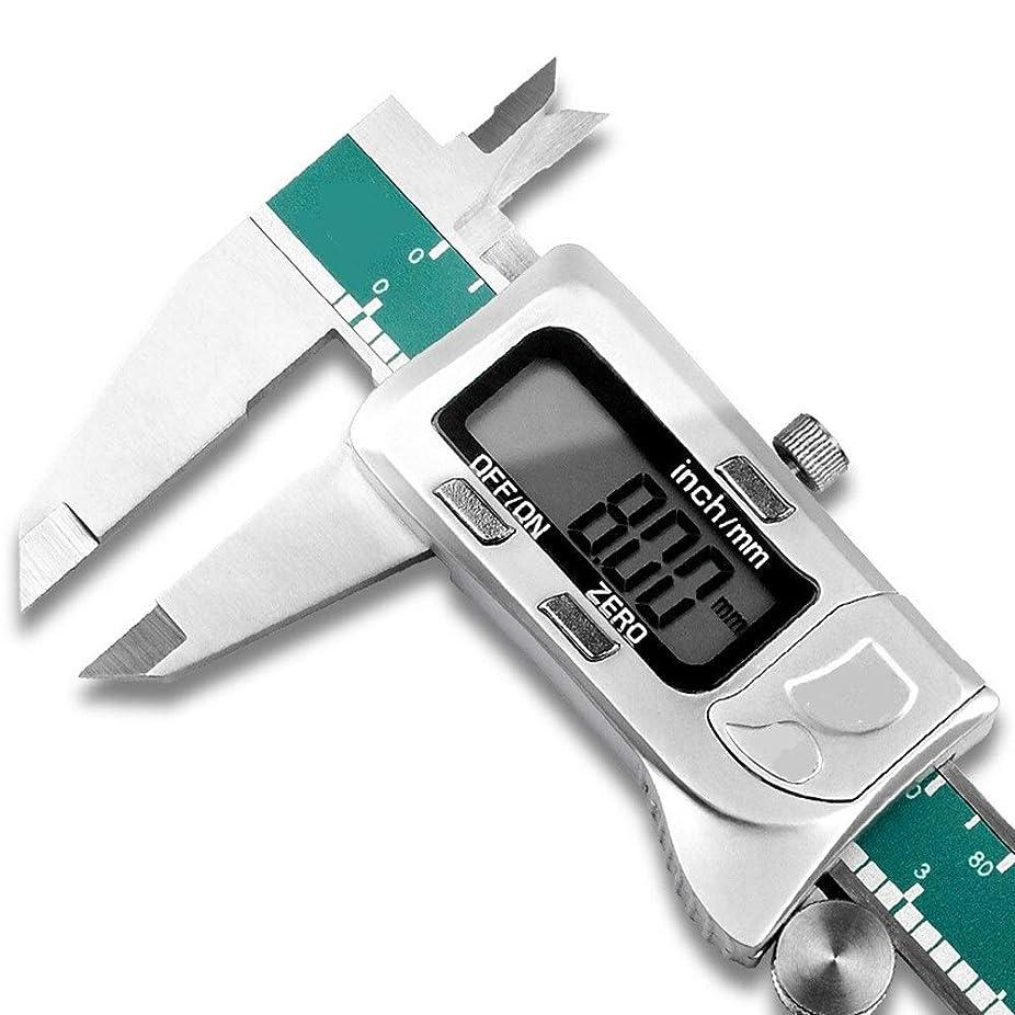 グレートバリアリーフ気味の悪い検査官デジタルノギス デジタルバーニアカード機械式キャリパは防水ツールを測定ルーラー内側と外側の径精密測定します (色 : 緑, サイズ : 300mm)