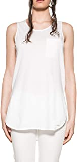 Luxury Fashion | Woolrich Womens WWTEE1122NS908641 White Tank Top | Spring-Summer 19