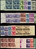 20 Different U.S. 3 Cent Plate Blocks of Four...