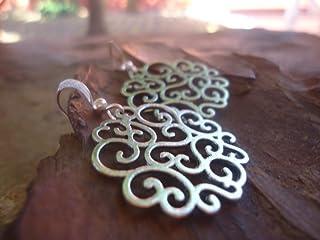 Orecchini ornamenti d'argento tempestati