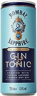 GIN TONIC BOMBAY SAPHIR IN EINER 12 X 25 CL DOSE