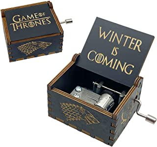 Game of Thrones Music Box, Wooden Hand Crank Unique Musical Boxes, Antique Vintage Crafts Laser Engraved Home Decorations ...