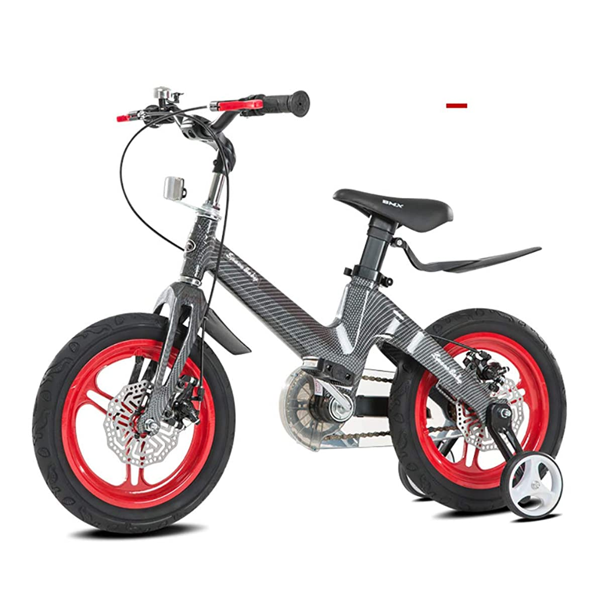 RCIN Sport Kids Bike for 3-8 Years Olds with Training Wheels Disc Brake Easy Assembly Lightweight Magnesium Alloy Frame Adjustable Seat Bicycle for Boy Girl-16 Inches