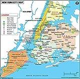 New York City Map - Laminated (36' W x 35.57' H)