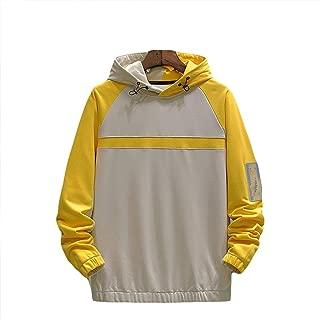 Men's Sweater Fleece Casual Hoodie Loose Pullover Fashion Long Sleeve Colorblock Sweatshirt Knitwear Jacket