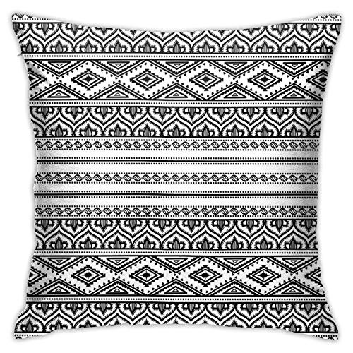 FULIYA Throw Pillow Covers 18x944 Inch,Oriental Tribal Moroccan Round Style Lines Dots Geometric Shapes Artwork,Holiday Cushion Pillowcases for Sofa Couch Home Decor New Year Gift
