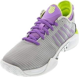 K-Swiss Women's Hypercourt Supreme Tennis Shoe (Silver/Fairy Wren/Sharp Green