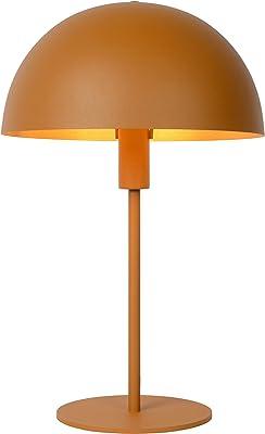 Lucide SIEMON - Lampe de table - Ø 25 cm - 1xE14 - Jaune Ocre