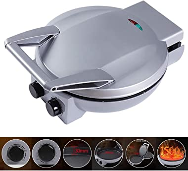 Electric Griddle Maker, 180 Degrees Double Electric Griddle Skillet Double Baking Pan Non-Stick Pizza Electric Grill Cookware, Baking Pan Machine, Timing Dual Omelette Maker Electric Timing