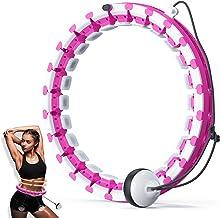 Slimme fitnessring, hoelahoep voor volwassenen met zwaartekrachtbal, 24 afneembare onderdelen Hulahub-hoepel voor afslanke...