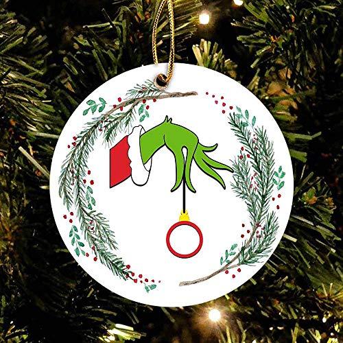 playtailor Hand Grinch Christmas Ball- Merry Christmas Ornament