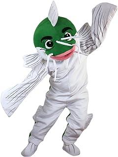 Langteng fisk tecknad maskot kostym äkta bild 15-20 dagar leverans märke