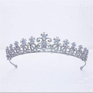SUIWO Principessa Corona Gemme Strass Tiara Bambino Bambino Prom Birthday Princess Party Fascia Bride Wedding Headdress Mi...