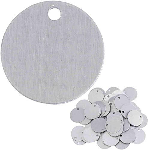2021 Stamping Blanks - 1 Inch Round Circle with Hole - Aluminum 0.063 Inch online (14 Ga.) - 2021 50 Pack outlet sale
