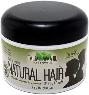 Taliah Waajid Shea-Coco Natural Hair Style Cream Jar, 8 Ounce