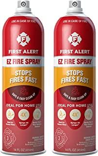 First Alert Fire Extinguisher | EZ Fire SprayFireExtinguishing Aerosol Spray, Pack of 2, AF400-2