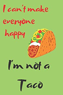 Taco Lovers Blank Lined Journal Notebook: A daily diary, composition or log book, gift idea for people who love to eat tacos!!