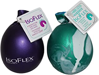 Isoflex Hand Therapy And Exercise Ball . 2 Pack - One Solid Color And One Marblized. Ideal For Stress Relief - Hand and Wrist Exercise for ADD/ADHD - For All Ages (Assorted Colors). E-book Included.