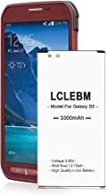 Galaxy S5 Active Battery, LCLEBM 3300mAh Replacement Li-ion Battery for Samsung Galaxy S5 Sport SM-G860 (Sprint) and Galaxy S5 Active SM-G870 (AT&T), Galaxy S5 Battery [24 Month Warranty]