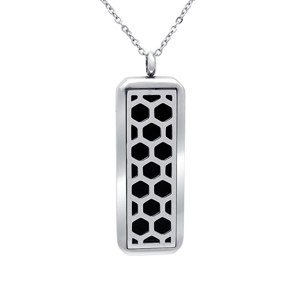 VOJO Essential Oil Necklace Stainless Steel Diffuser Locket Pendant