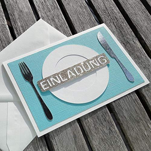 EINLADUNG Geschenkgutschein Essen gehen HANDARBEIT Frühstück Brunch Mittagessen Abendessen Geschenkkarte Restaurant für Sie oder für Ihn Karte Candlelight Dinner Jahrestag Geburtstag Valentinstag