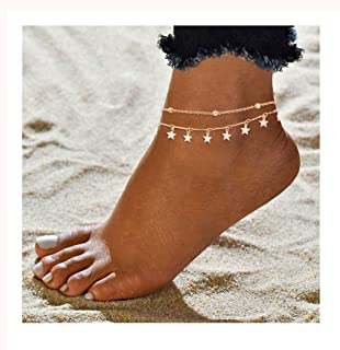 ForeveRing Z Foot Chain Boho Beach Jewelry Layer Anklet for Women Adjustable Anklet