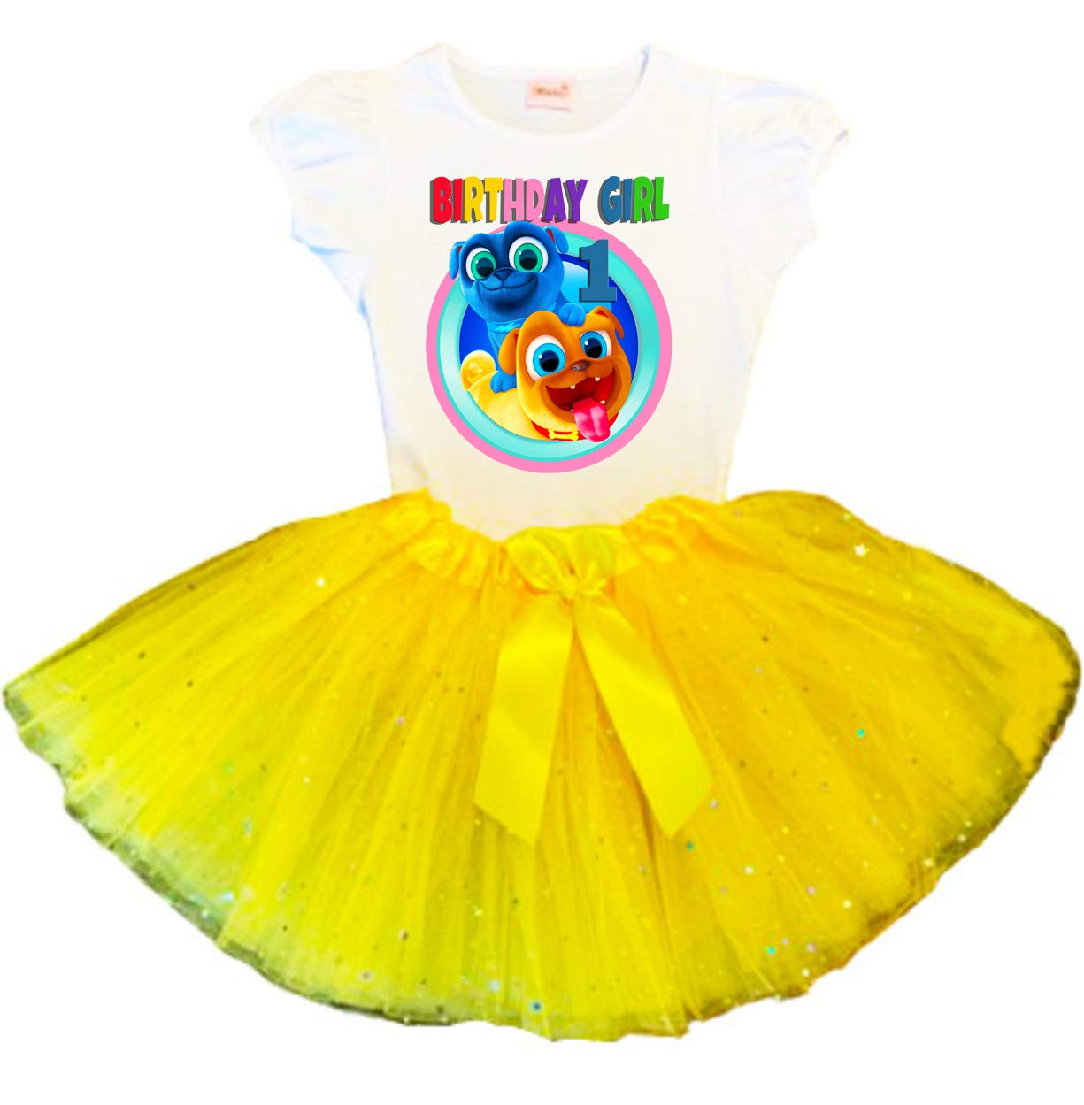 Puppy Dog Pals Large discharge sale Birthday Tutu Max 71% OFF Yellow Tut Party Dress 1st