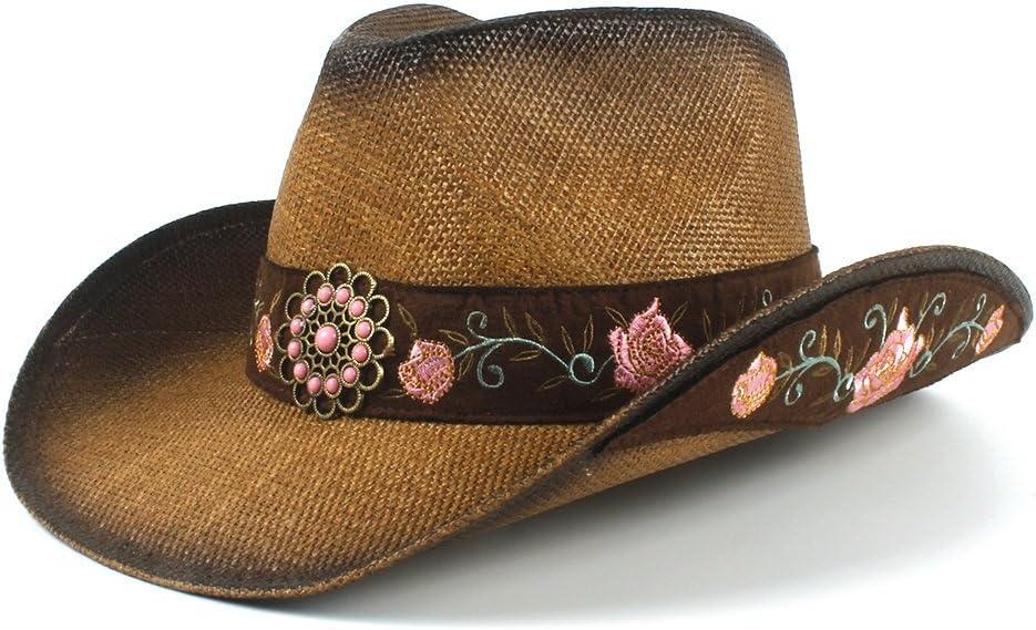 TWEITIE Women's Straw Cowboy Hat Summer Elegant Lady Hats Dropsh